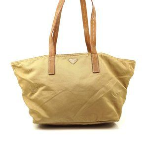 Auth Prada Tote Bag Brown Nylon #6292P44